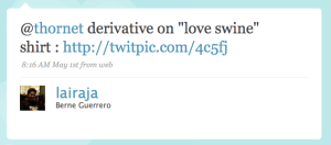 luvswine tweet
